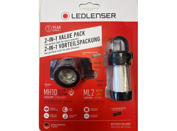 Latarka Ledlenser MH10 + latarka camping ML2